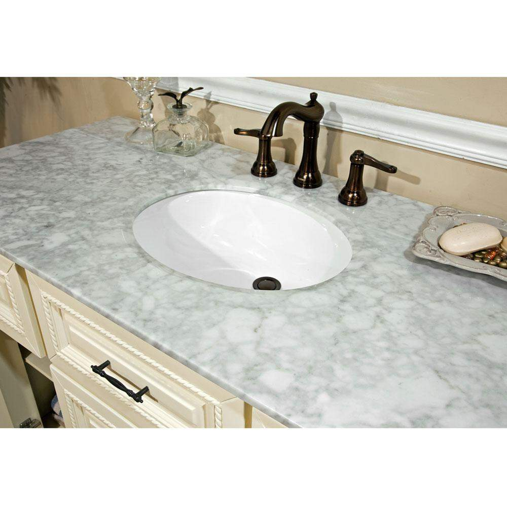 Bellatera Home 50 Inch Single Sink Vanity Antique White 605022