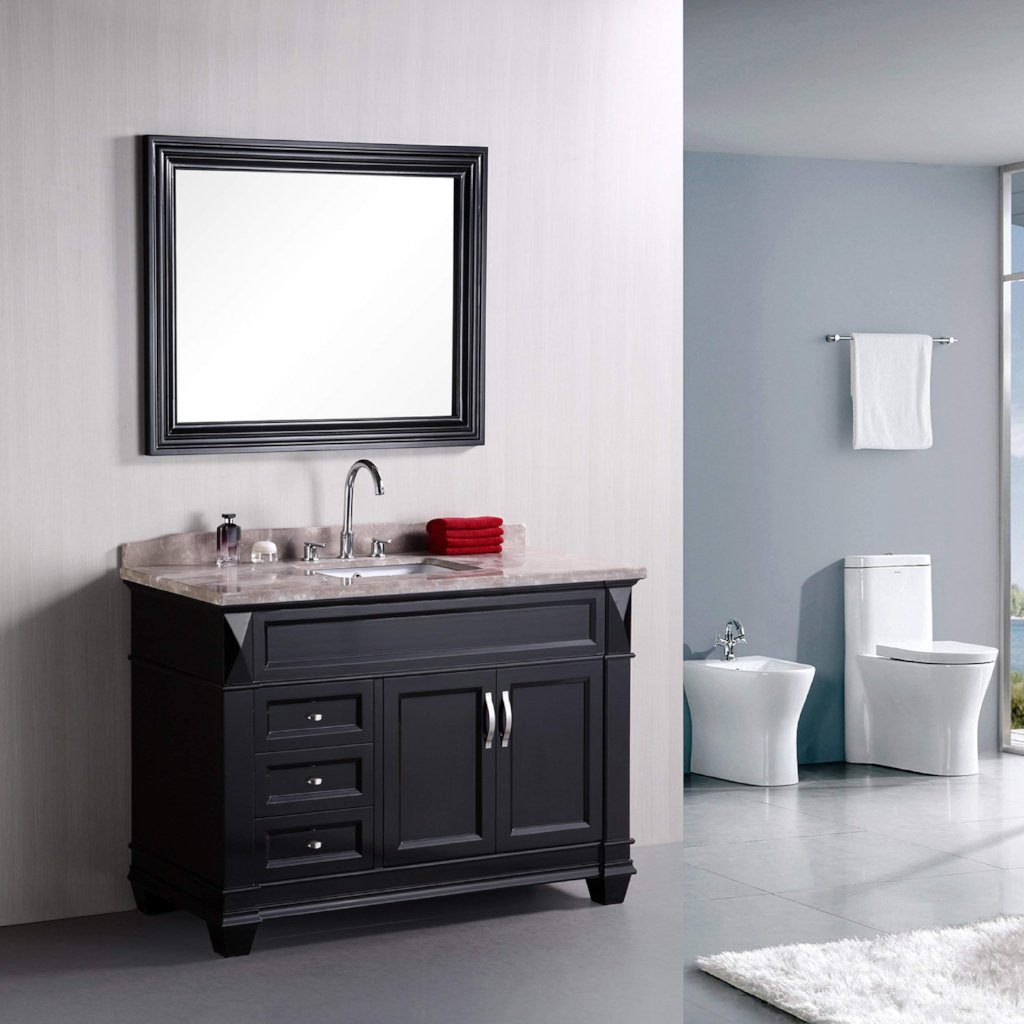 Design Element Hudson 48 inch Single Sink Vanity Set DEC059B ...