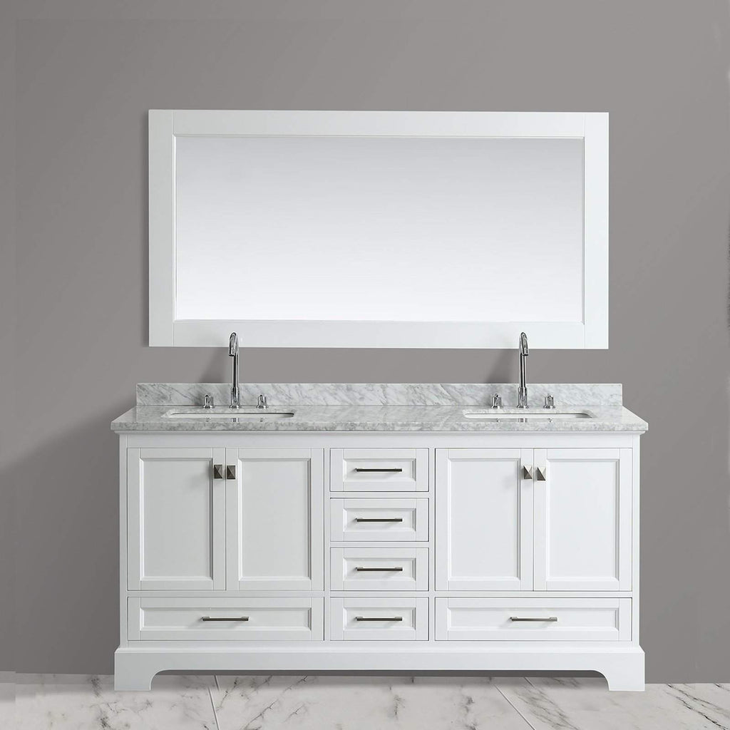 Design Element Omega 72 inch Double Sink Vanity – Bathroom Vanity Direct