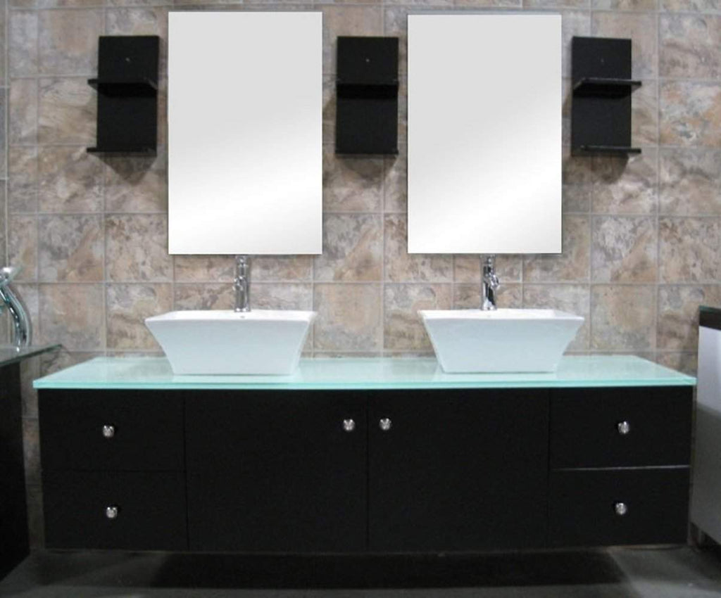 Design Element Portland 61 Inch Double Sink Wall Mount Dec071a
