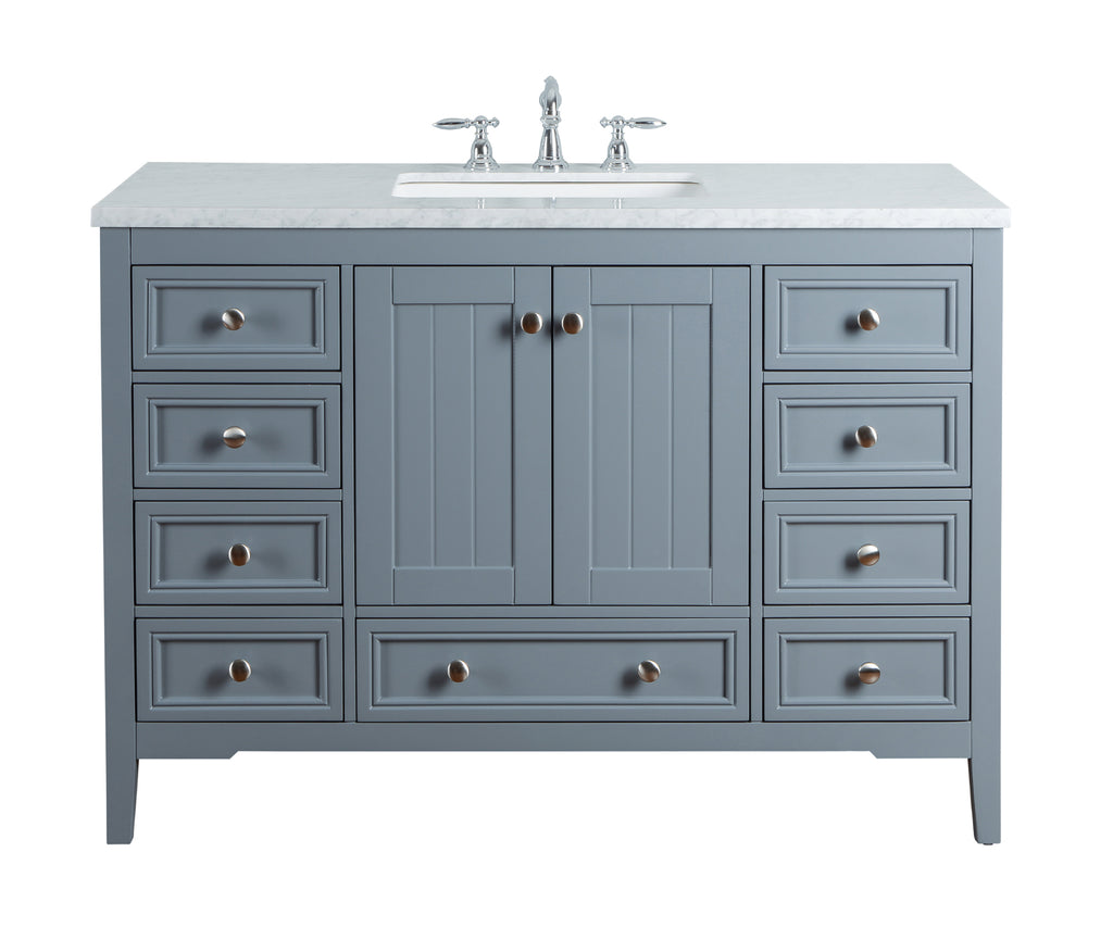 Stufurhome New Yorker 48 Inch Single Bathroom Vanity Hd 1616g 48 Cr