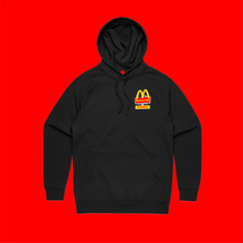 AMT BLACK HOODIE FRONT LEFT AND BACK