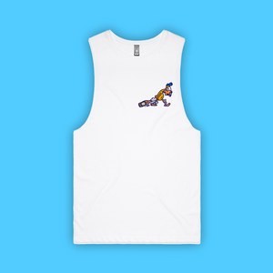 DUCKED TANK: FRONT AND BACK