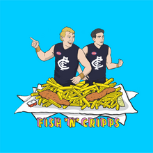FISH AND CRIPPS TEE FRONT AND BACK
