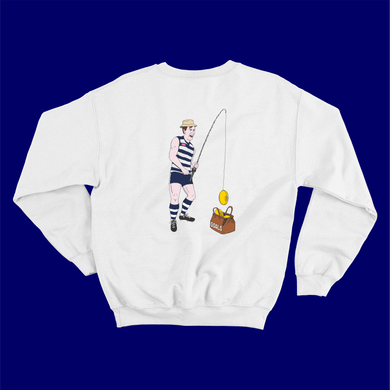 FISHING WITH JEZ THE CAT: JUMPER - FRONT AND BACK