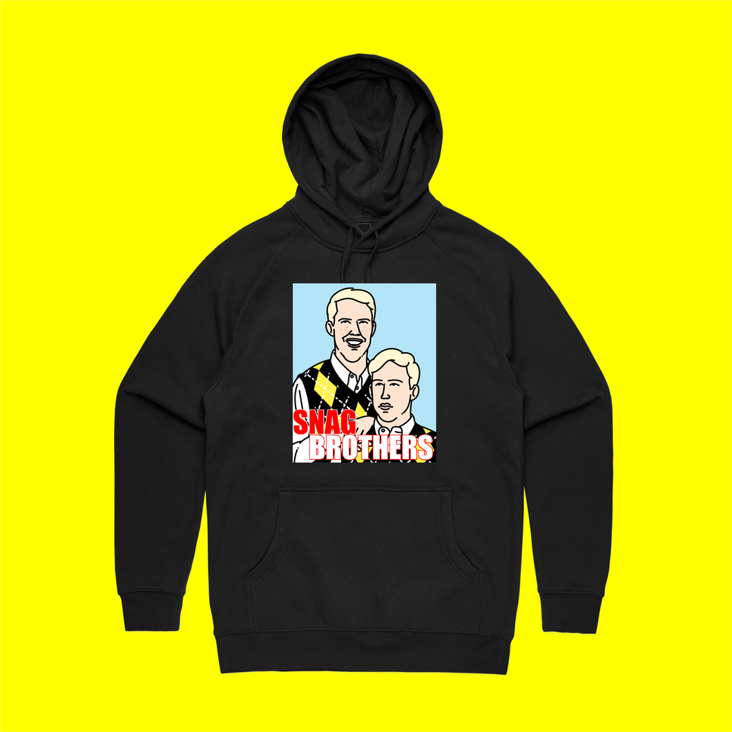 SNAG BROTHERS HOODIE FRONT CENTRE