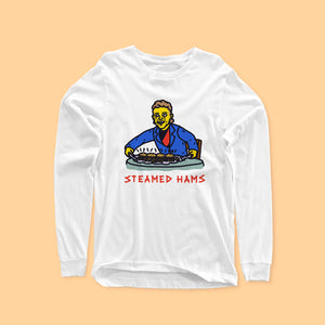 STEAMED HAMS LONG SLEEVE FRONT ONLY