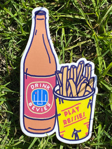 BEER & CHIPS STICKER