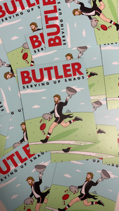 BUTLER STICKER