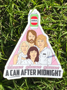 CAN AFTER MIDNIGHT STICKER