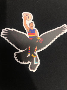 THE TEXAN CROW STICKER