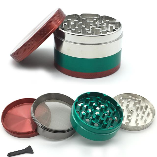 Multi Colour Laser Cut Grinder - 4 piece 63mm