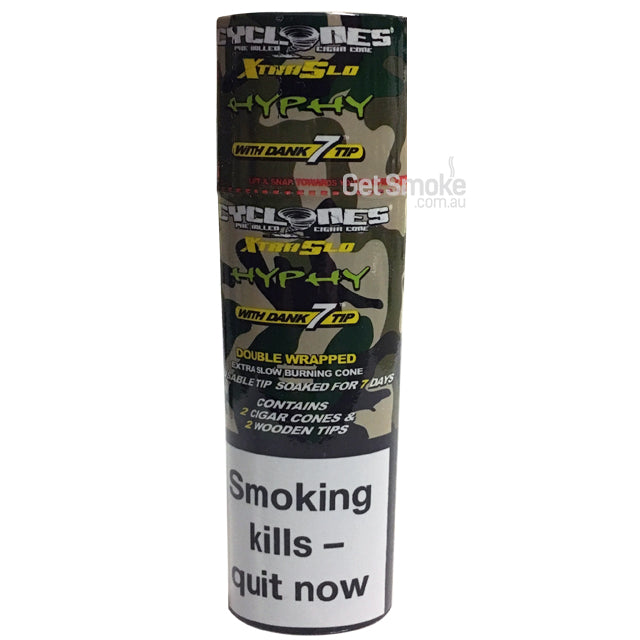 CYCLONES 2-PACK XTRA SLOW CONE BLUNTS (HYPHY)
