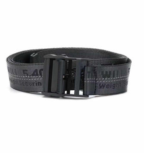 Off-White Men's Industrial Logo-Web Belt- Black