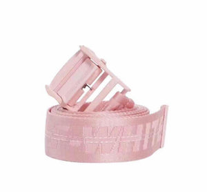 UNRELEASED Off-White Men's Industrial Logo-Web Belt- Pink