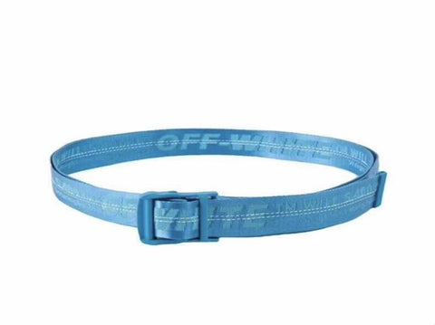 Off-White Men's Industrial Logo-Web Belt- Bright Blue
