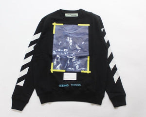 Off White Caravaggios Crewneck- Black