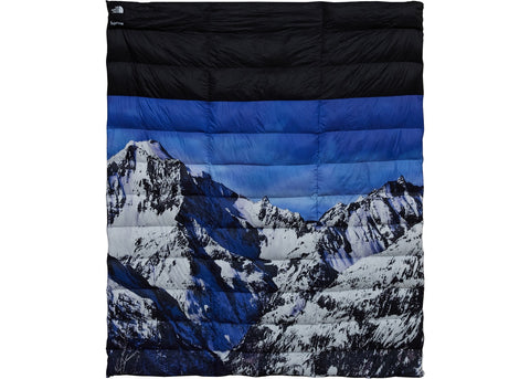 Supreme The North Face Mountain Nupste Blanket Blue/White