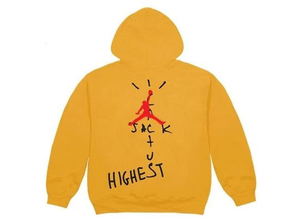 Travis Scott Jordan Cactus Jack Highest Hoodie Gold