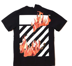 OFF-WHITE FIRE SPLICED S/S T-SHIRT