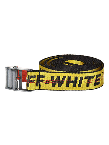 Off-White Men's Industrial Logo-Web Belt (Silver Buckle)