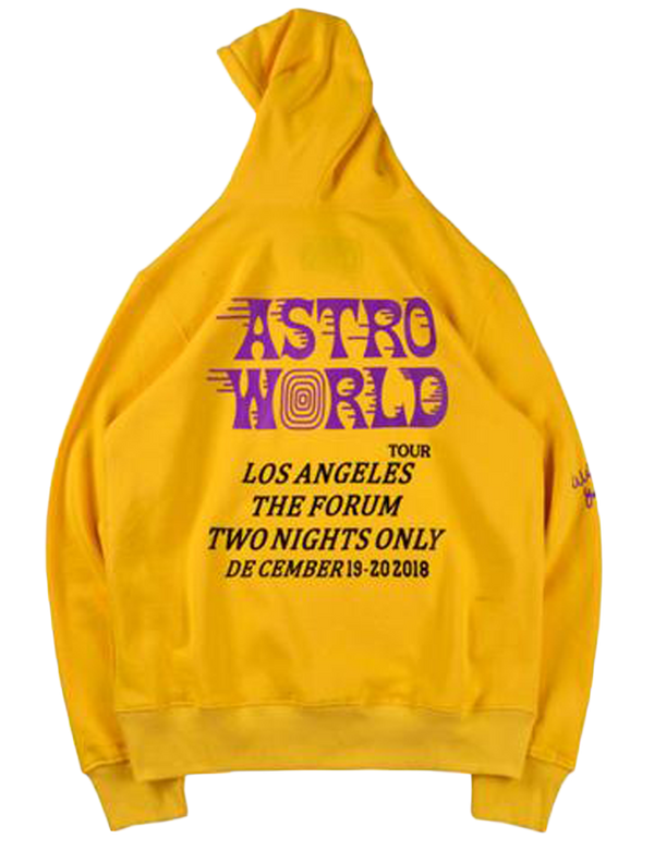 Travis Scott Astroworld LA Exclusive Hoodie Yellow