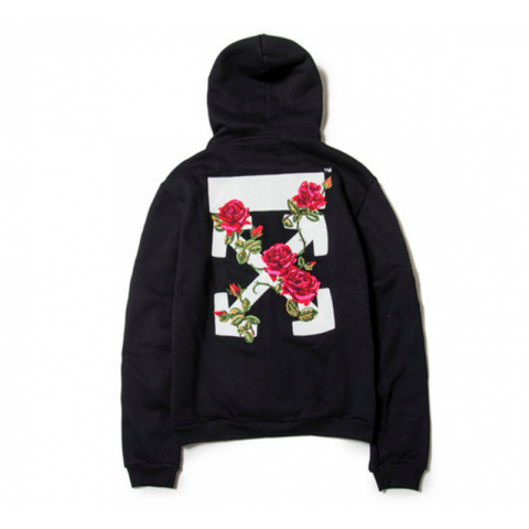 Off White Rose Zip Up