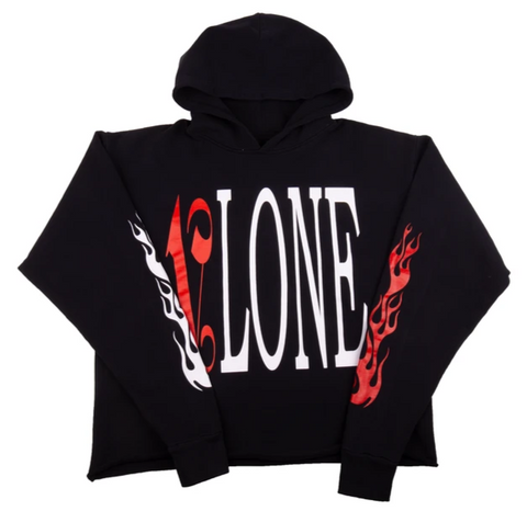 Vlone x Palm Angels Black/Red Hoodie