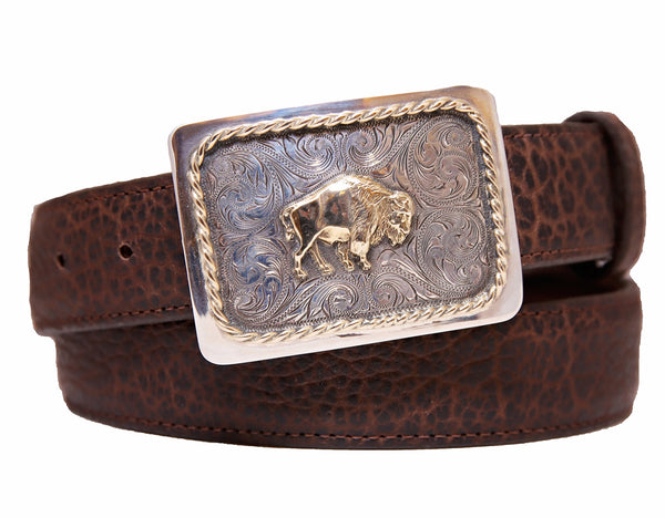 Sunset Trails Bison Belt Buckle