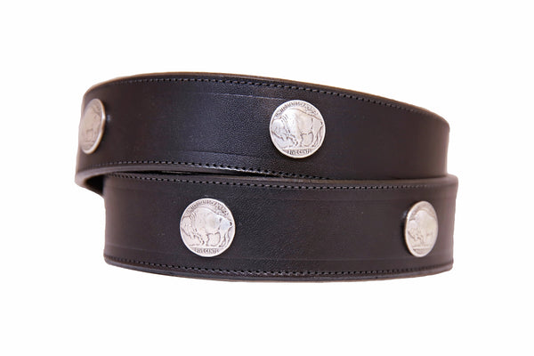 Buffalo Nickle Leather Belt