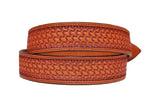 Antique Basket Stamped Belt
