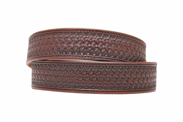Brown Basket Stamped Belt