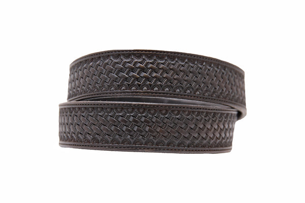 Black Basket Stamped Belt