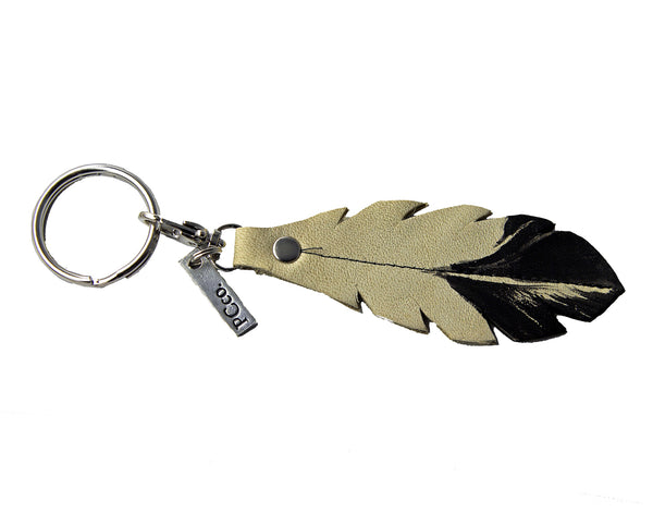PCco Feather Key Chain Natural