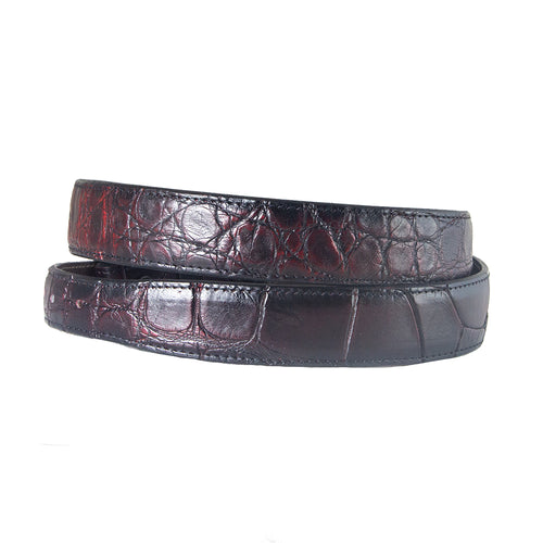 Black Cherry Alligator Belt