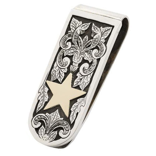 Gold Star Money Clip