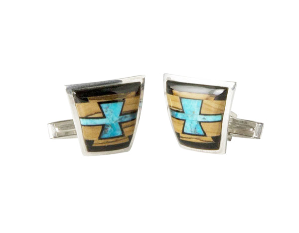 B G Mudd Inlay Cufflinks
