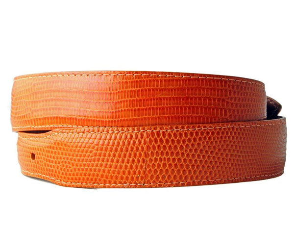 Orange Lizard Belt