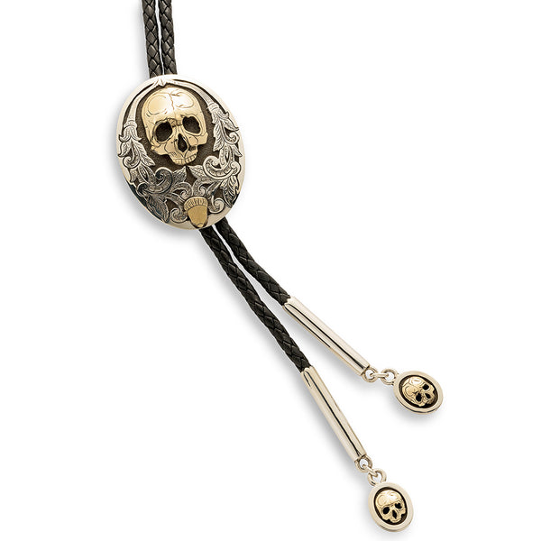 Richard Stump Gold Skull Bolo