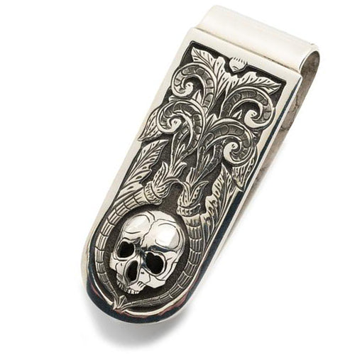 Silver Skull Money Clip