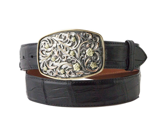 Sunset Trails Silver and Gold Belt Buckle