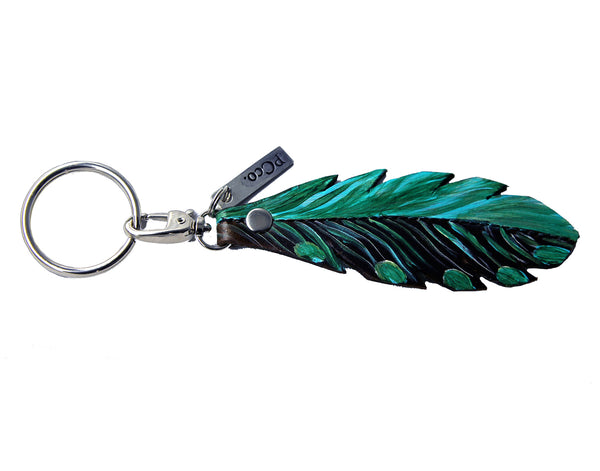 PCco Feather Key Chain Turquoise