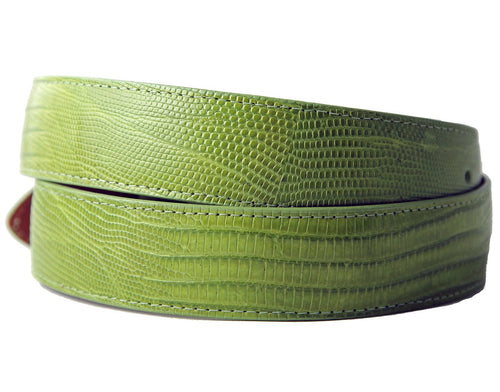 Lime Green Lizard Belt