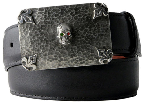 Gem-Eyed Skull Buckle
