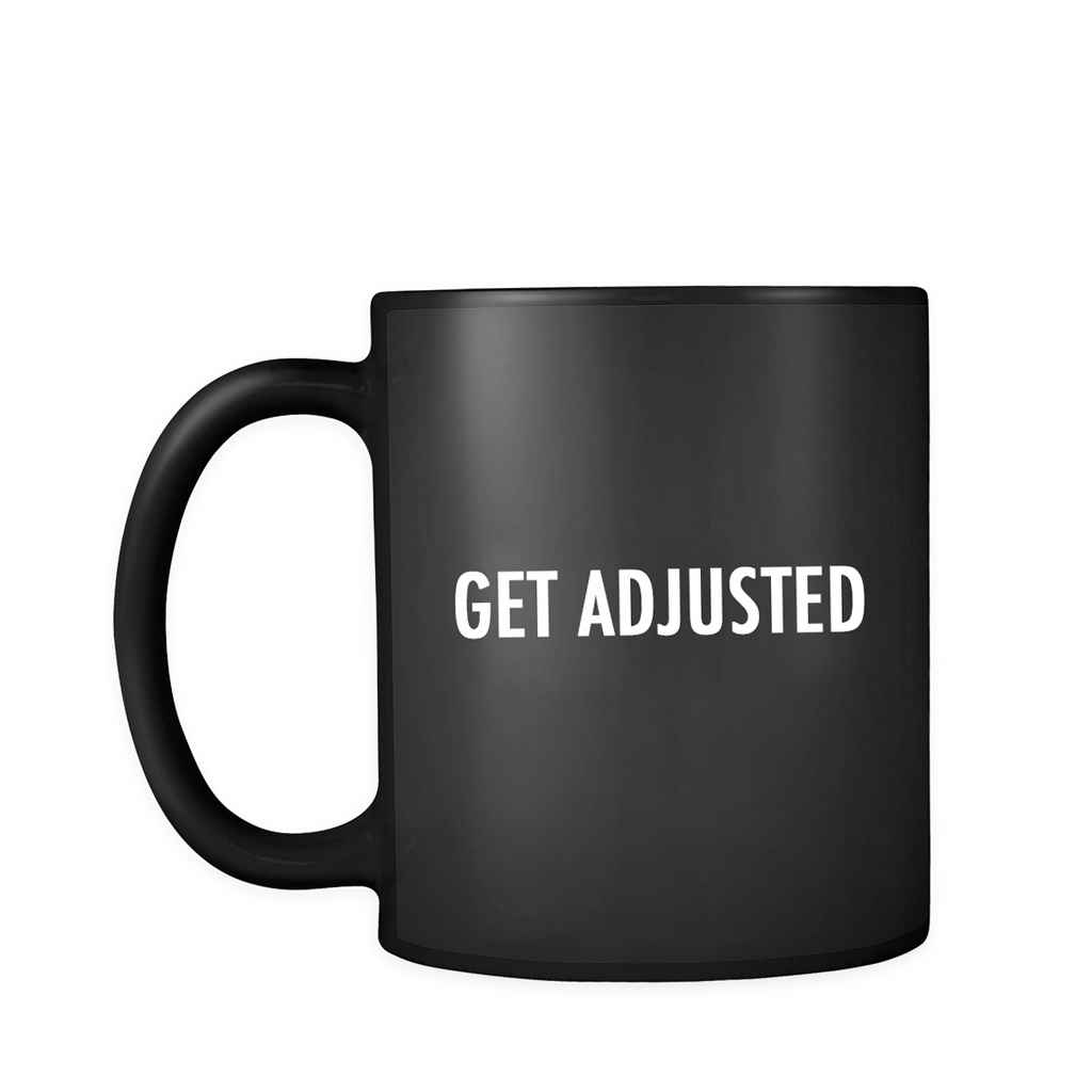 Get Adjusted Black Mug