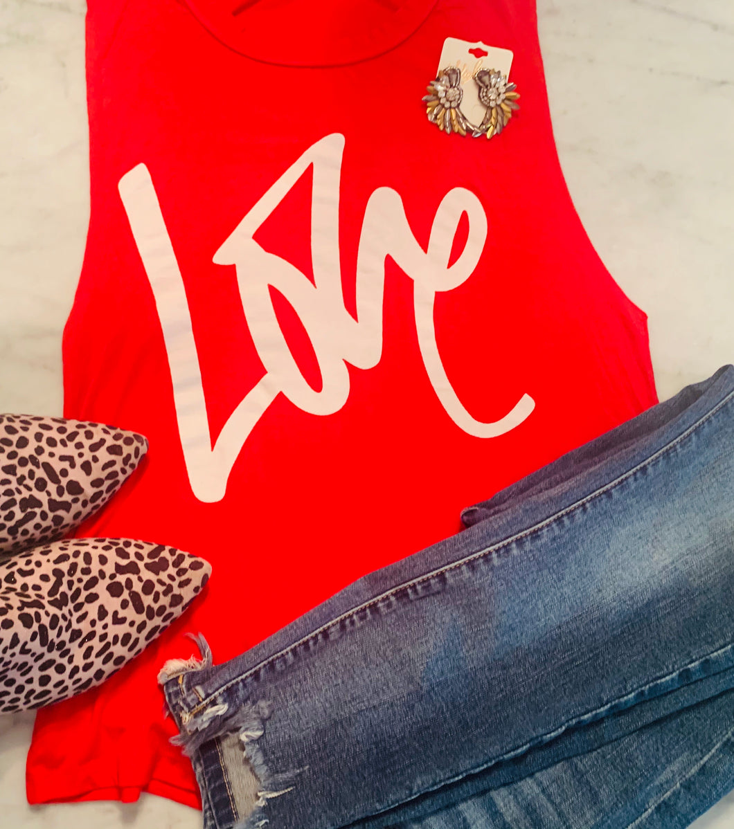 Red LOVE tank