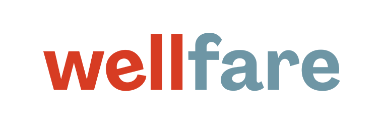 Red and Blue Wellfare Logo