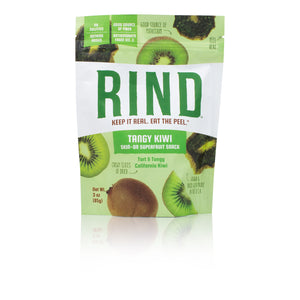 Rind Snacks<sup>™</sup> Sun-Dried Skin-On Non-GMO Superfruit Snack Variety Pack (Tropical Blend, Orchard Blend, Tangy Kiwi, and Straw-Peary), 3oz Bags, Pack of 4