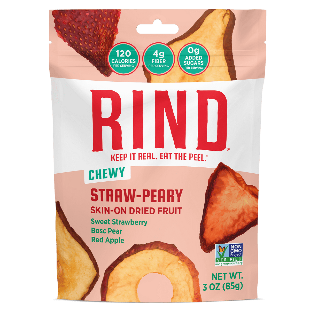 Rind Straw-Peary Skin-On Dried Fruit
