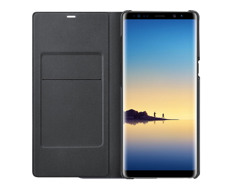 on sale 64f8b e921d Samsung Note 8 LED Wallet Cover Case